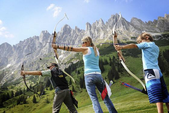 Bogenparcours in der Region Hochkönig