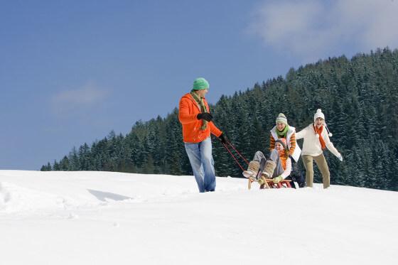 Rodeln - Winterurlaub am Hochkönig - Salzburger Land